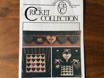 """CROSS STITCH   GRAPH """"  QUILTING BEE HEARTS """" from THE CRICKET COLLECTION"""