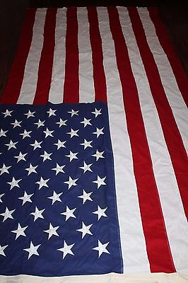 LG Original 1960's Era U.S. National 50 Star Cloth Flag, Maker's Tag 9' x 4'-8''