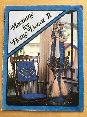 VINTAGE 1978 Macrame For Home Decor II MACRAME PATTERN BOOK
