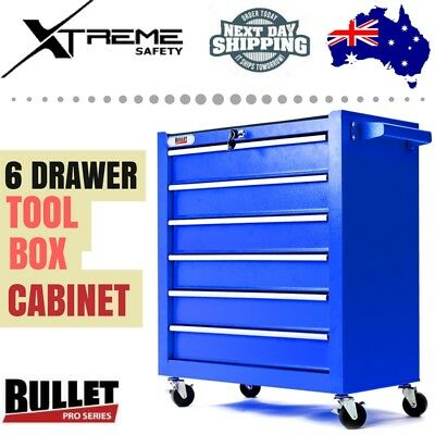 BULLET 6 Drawer Chest Mechanic Garage Storage Organizer Tool Box Cabinet Trolley