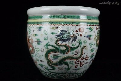 A Chinese Beautiful Five Colors Porcelain Dragons Pot