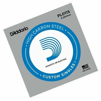 D'Addario PL0115 single plain steel Electric / Acoustic Guitar string Gauge 11.5