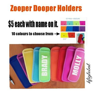 Zooper Dooper Icy Pole cover holder special personalized stocking filler