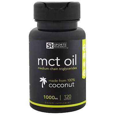 Mct Oil Capsules From 100% Coconut 60% Caprylic Acid C8 + C6  Sports Research