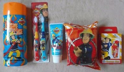 FIREMAN SAM- 5pcs Bath&Shower Gel, Toothpaste, Toothbrushes, Wet Wipes, Plasters