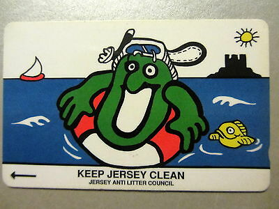Jersey Telecoms Phone Card Telefonkarte 40 Units Keep Jersey Clean