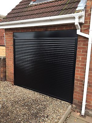 Insulated Compact Electric Roller Door in Black - FITTING AVAILABLE NATIONWIDE