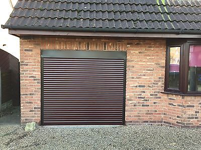 Remote Insulated Electric Roller  Door in Rosewood - Colour samples available