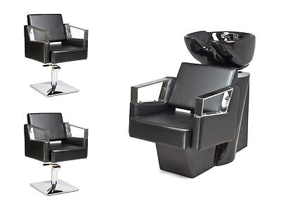 SALON HAIRDRESSING STYLING FURNITURE SETS Backwash  Styling Chairs VERDE - NEW