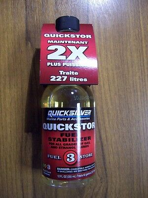 WINTERISE TOHATSU OUTBOARDS QUICKSILVER QUICKSTOR FUEL STABILIZER 92-8M0079745