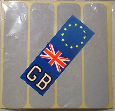 4x Retro reflective crash helmet stickers to comply with French motorcycle