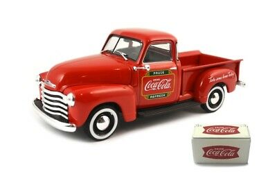1:43 Coca Cola 478104 1953 Chevy  Pickup with Metal Cooler  Neu & OVP
