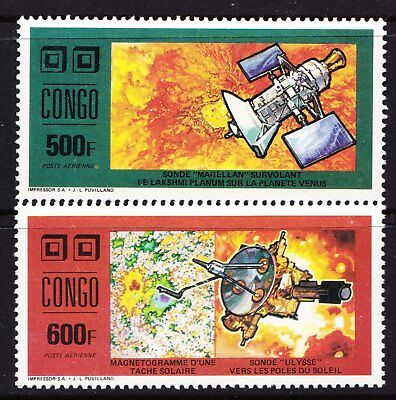 Congo Republic 1991 Space & Satellites - Two MNH values - Cat £11.25 -  (159)