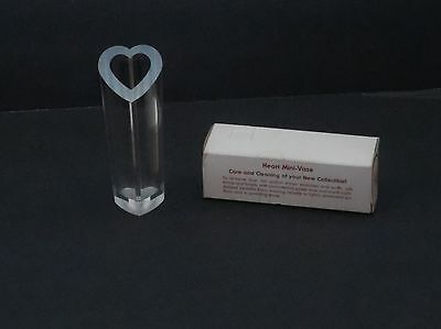 "Vintage - NEW IN BOX! ""SUBTLE REFLECTIONS"" Heart MINI VASE - Princeton Ind. Corp"