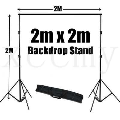 2X2M Adjustable Photography Background Support Stand Photo Backdrop Crossbar Kit