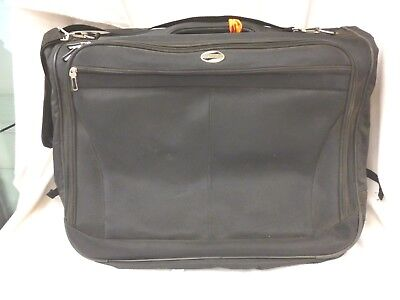 "American Tourister Garment Bag Folding Carry On Black Many Pockets 42"" Long"