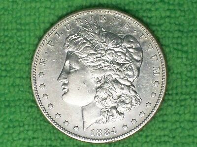 1884-S Morgan Silver Dollar!  Nice Lightly Circulated Better Date Coin!  (MG060)