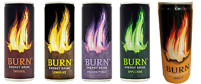 Burn Energy Drink - 250Ml Can - 4 Flavours - New  From Poland - Must Try -
