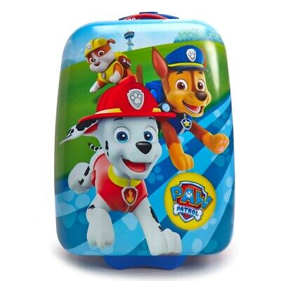 Kids Boys Girls Paw Patrol Rolling Luggage Suitcase Chase Rubble Marshall