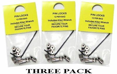 36-Pieces-Pin-Keepers-Pin-backs-Pin-Locks-Locking-Pin-Backs-w-Allen-Wrench 5mm