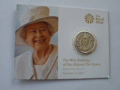 2016 £20 Fine Silver Coin - Royal Mint Card - Uk Post Free