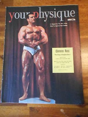 YOUR PHYSIQUE bodybuilding muscle magazine/CLARENCE ROSS 8-51