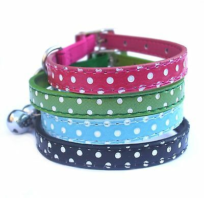 CLEARANCE SALE! Metallic / Leopard / Army / Polka Dot SAFETY CAT COLLARS, BNWT