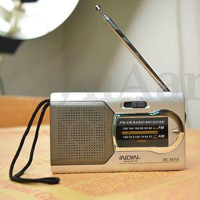 Portable Radio Mini AM/FM Telescopic Antenna Radio Pocket World Receiver #AA