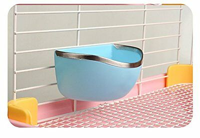 Plastic Hanging Hay Water Food Bowl Dish Double Use Feeder for Guinea Pig Mouse
