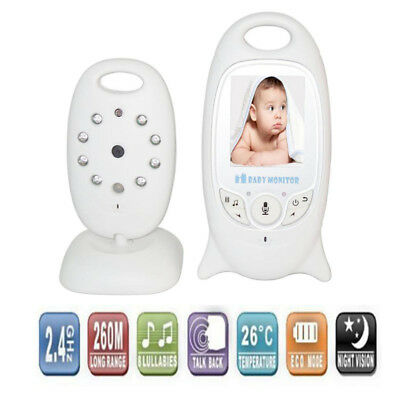 Wireless 2.4GHz Digital LCD Color Baby Monitor Audio Video Night Vision Camera