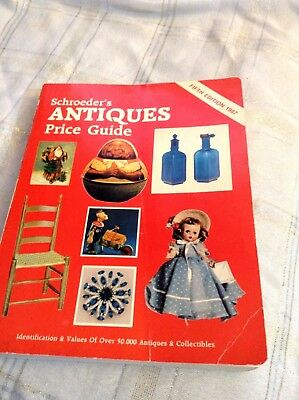 Schroeder's Antique Pricing Book 1987 Edition Vintage Guide Collectibles Values