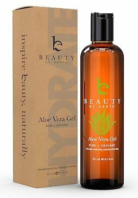 Aloe Vera Gel - Beauty by Earth Organic & Pure Aloe Vera Gel for After Sun Ca...