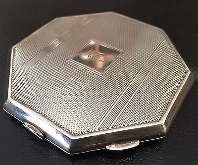 Sterling Silver Hallmarked Compact 1920 Broadway B&co