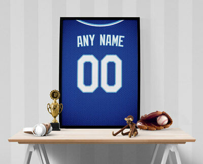 Kansas City Royals Jersey Poster - Personalized Name & Number FREE US SHIPPING