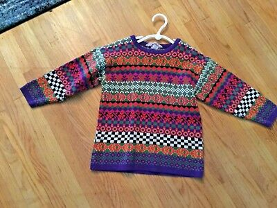 Hanna Andersson sz 3-4  100  Crew neck Thick Cotton Sweater Boys  Girls