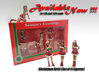 Christmas Girls - Set of 4 -1/18 scale figure/figuines-NEW from American Diorama