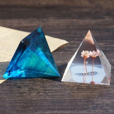 3pcs Pyramid Silicone DIY Mold Resin Casting Jewelry Making Mold 20/30/50mm