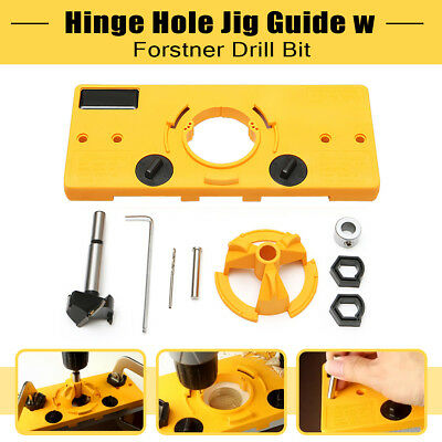 35MM Cup Style Hinge Boring Jig Drill Set Guide Door Hole Locator For Kreg Tool
