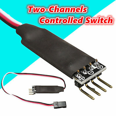 Two Channel Switch Remote Control Car Lights Receiver Cord For RC Car