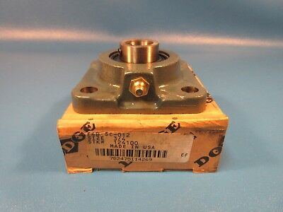 "DODGE 124100, F4B-SC-012 FLANGE BLOCK 3/4"" Bore, Cast Iron Flange Unit"