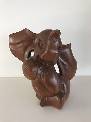 Carved Wood Sculpture Baby Elephant
