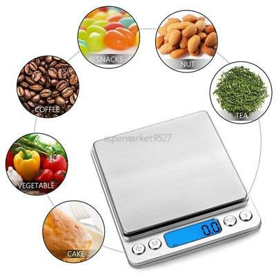 0.1g-3kg Digital LCD Weighing Scale Kitchen Baking Food Measuring Electric Scale