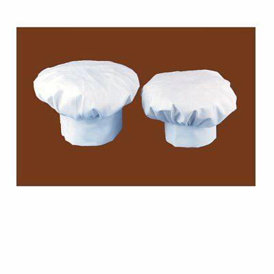 SMYLLS Chef Hat Adult Elastic Adjustable Size Poly Cotton Kitchen Ware Cooking H