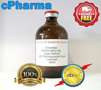 GRAPE SEED OIL USP PHARMACEUTICAL GRADE 50ml  (UNDILUTED and STERILE)
