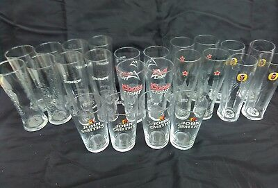24 x Assorted Pint Glasses man cave, home bar all brand new