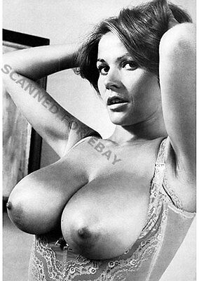 Uschi Digard big busty breasts print female nude photo Digart topless sexy woman