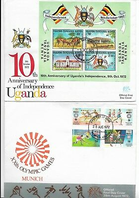4 Covers from Uganda issued in 1972