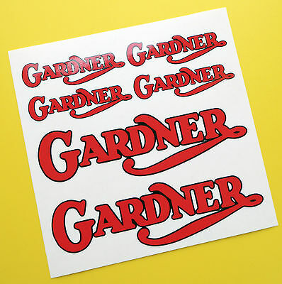 GARDNER Stationary Engine logo style sticker decal set
