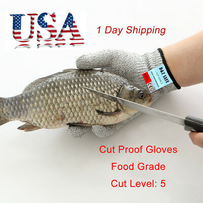 Safety Cut Proof Stab Food Grade Level 5 Resistant Metal Mesh Butcher Gloves