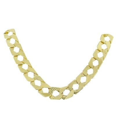 "NEW Heavy Weight 9ct Yellow Gold Large Curb Chain 58.9G - 77.7G | 22""-30"""